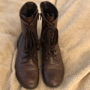 Shoes - Brown combat boots off brand